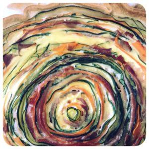 Tarte Spirale (Courgette, carotte, bacon)