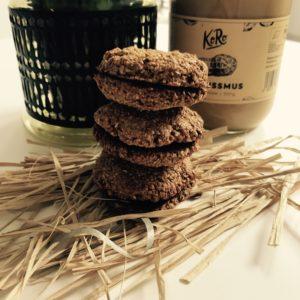 Biscuits façon macaron: Beurre de cacahuète & Chocolat
