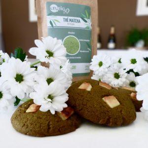 Cookies au thé matcha & chocolat blanc
